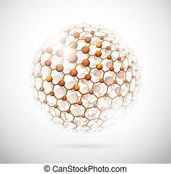Molecular sphere - Image of the molecular structure in the...