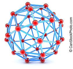 Molecular spherical lattice
