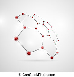 Molecular structure - Abstract images of molecular...