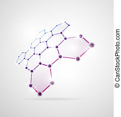 Molecular structure - Abstract images of molecular ...