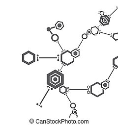 Molecular structure. Abstract technology and business icon