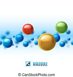Molecular structure - Colored molecular structure. Abstract ...