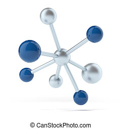 Molecular structure isolated on a white background