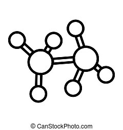 molecular structure illustration design