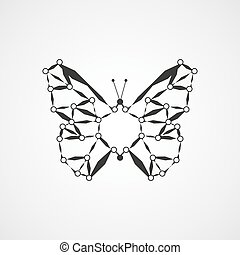 Molecular structure in the form of butterfly