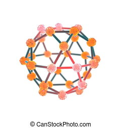 molecule 3d render rotation shot