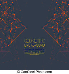 Molecule And Communication Background Vector illustration...