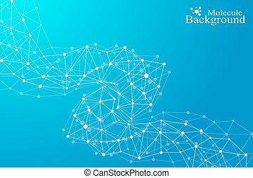 Molecule and communication background of neurons and nervous system. Graphic background molecules atom dna. Vector illustration.