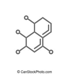 Molecule, atom, dna line icon.
