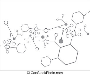Molecule background - Molecule structure over the white...