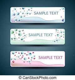 Molecule Banners Set