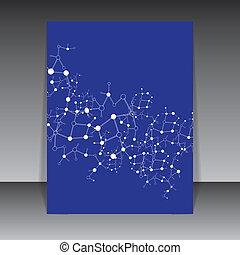 Molecule blue background