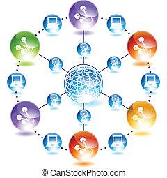 Molecule web icon
