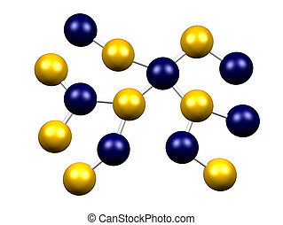 Molecule Formation Isolated on a White Background