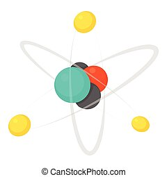 Molecule icon, cartoon style