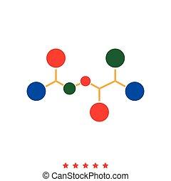 Molecule icon . Different color .