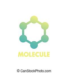 molecule icon, logo element on white, eps 10 file, easy to edit