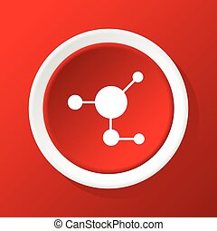 Molecule icon on red