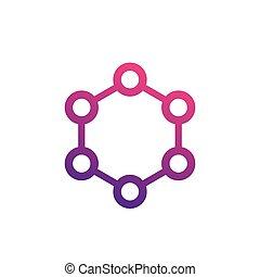 molecule icon on white, eps 10 file, easy to edit