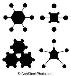 molecule icon set