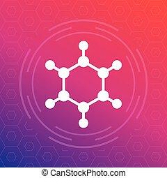 molecule icon, vector logo element, eps 10 file, easy to edit