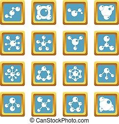 Molecule icons azure