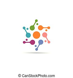 molecule logo vector icon illustration