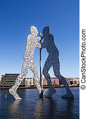 Molecule Man designed by Jonathan Borofsky, placed in the...