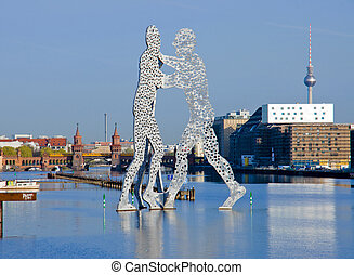 Molecule men and river Spree, Berlin. Picture was taken from...