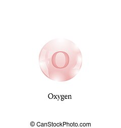 Molecule of Oxygen. Chemical Element of the Periodic Table