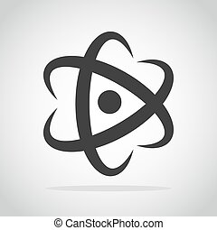 Molecule or Atom icon. Vector illustration. - Molecule icon...