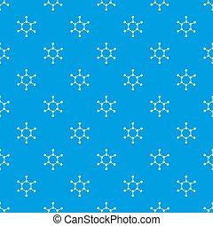 Molecule pattern seamless blue