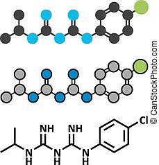 molecule., preventiv, drog, malaria, proguanil