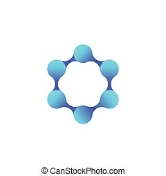molecule, science and technology vector logo, eps 10 file, easy to edit