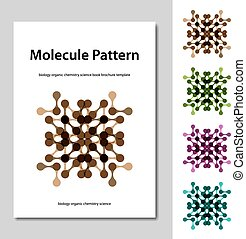 molecule science pattern brochure template