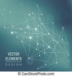Molecule structure. Abstract vector background