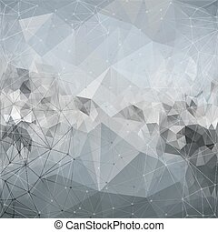 Molecule structure, background for communication, triangle design vector illustration