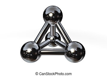Molecule Structure Chrome/Silver/Steel II - simple chrome/...