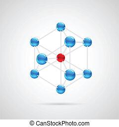 Molecule Structure - illustration of colorful molecule...