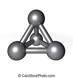 Molecule Structure Metallic Grey - simple metallic grey ...