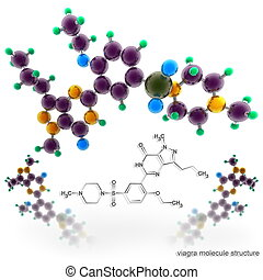 Molecule structure of viagra
