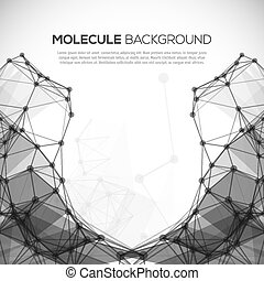 Molecule structure vector background.