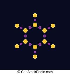 molecule vector logo element, eps 10 file, easy to edit