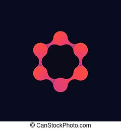 molecule vector logo, science and technology concept