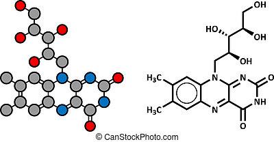 molecule., vitamin b2, (riboflavin)