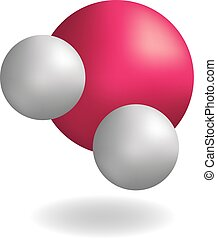 Molecule water H2O symbol