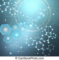 Science Research - Molecules and Science Research ,Concept.