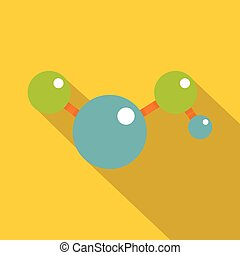 Molecules icon, flat style