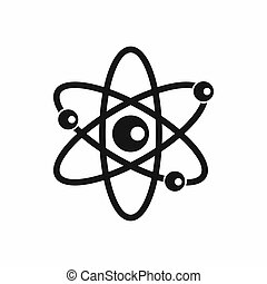 Molecules of atom icon, simple style