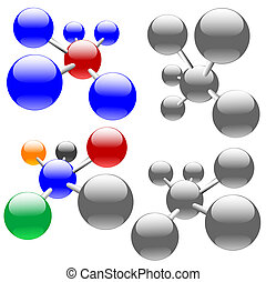 Molecules or Network Nodes - Easily edited , clean, isolated...